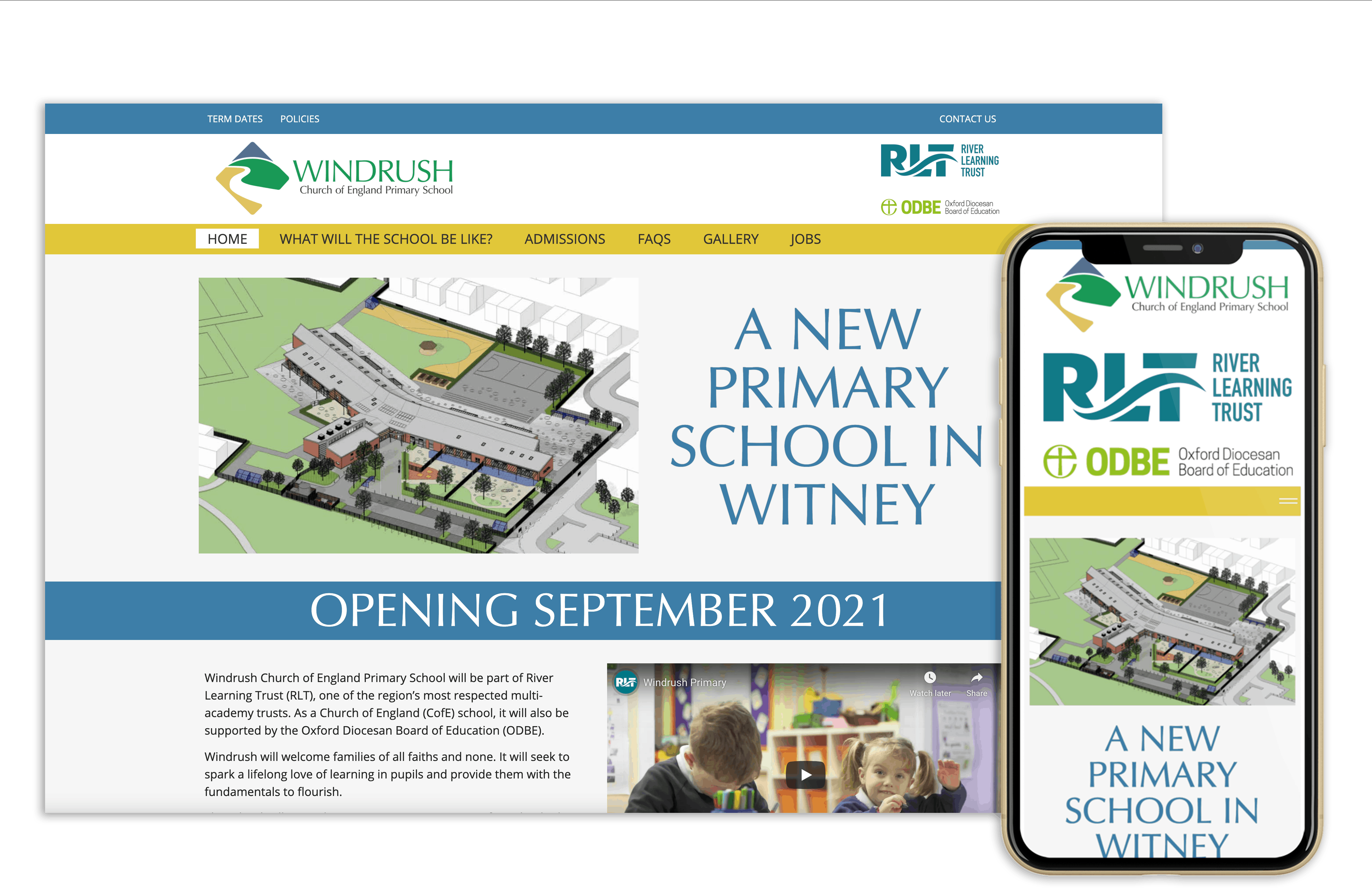 Image of a school website